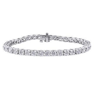 Miadora Signature Collection 14k White Gold 10ct TDW Diamond Tennis Bracelet (F-G, VS1-VS2)