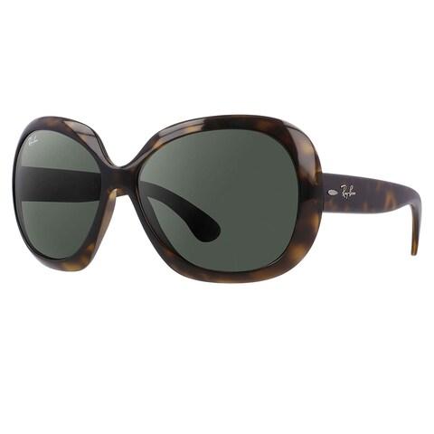 RayBan RB4098 Jackie OHH II Sunglasses Tortoise/ Green Classic 60mm - Tortoise