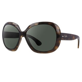 Ray-Ban Women's Tortoise 'Jackie Ohh II RB4098' Round Plastic Sunglasses