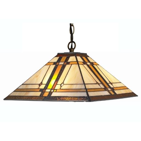 Shop Amora Lighting Tiffany Style Mission 2-light Hanging