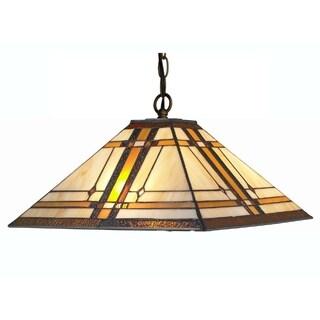 Amora Lighting Tiffany Style Mission 2-light Hanging Lamp