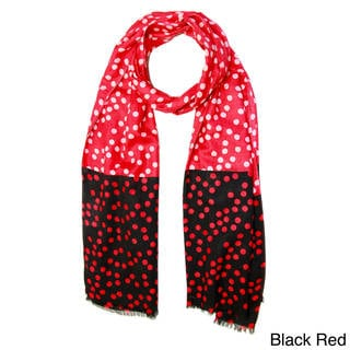 Saachi Women's Colorblock Polka Dots Scarf (India)