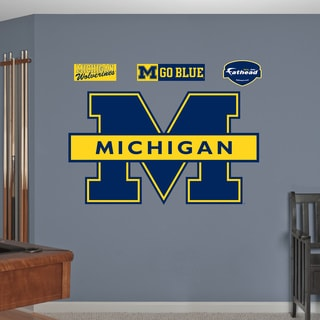 Fathead Michigan Wolverines Blue Logo Wall Decals