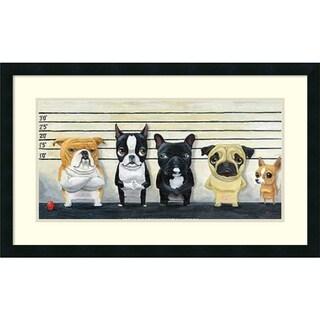 Framed Art Print 'The Lineup' by Brian Rubenacker 31 x 19-inch