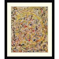 Framed Art Print 'Shimmering Substance, 1946' by Jackson Pollock 33 x 39-inch