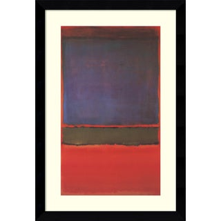 mark rothko u0027no 6 violet green and red 1951u0027 framed