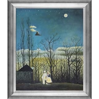 Henri Rousseau 'A Carnival Evening' Hand-painted Framed Canvas Art