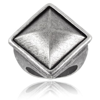 Crucible Antiqued Brass Diamond Shield 33mm Wide Cast Band