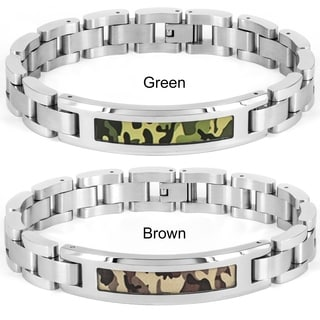 Crucible Stainless Steel Camouflage ID Bracelet