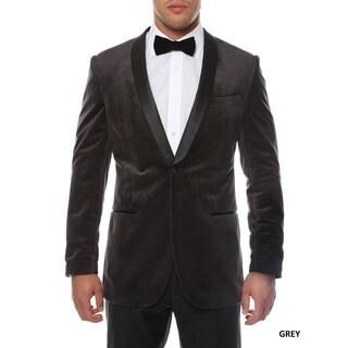 Ferrecci Men's Slim Fit Shawl Collar Velvet Tuxedo Blazer