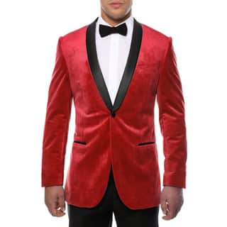Ferrecci Men's Slim Fit Shawl Collar Velvet Tuxedo Blazer|https://ak1.ostkcdn.com/images/products/9252325/P16417891.jpg?impolicy=medium