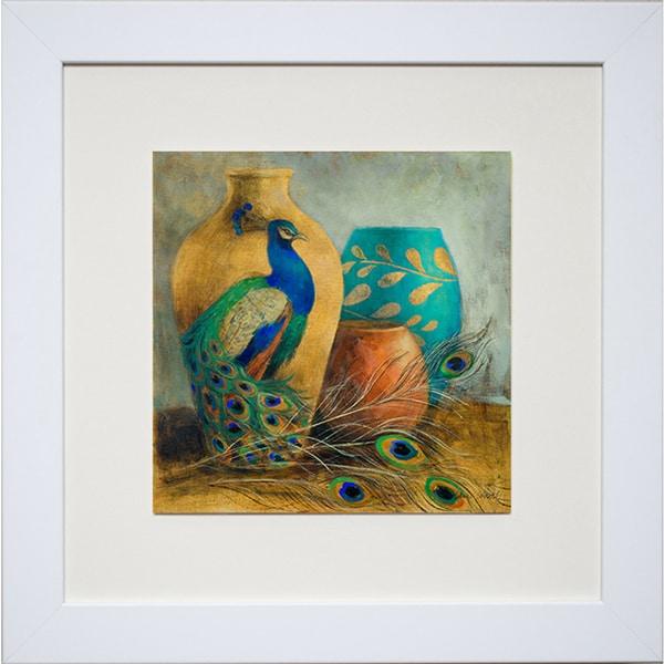 "Lanie Loreth ""Peacock Vessels I"" Framed Art Print - Green"