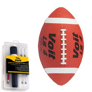 Voit Junior Rubber Football with Ultimate Inflating Kit
