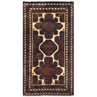 Herat Oriental Afghan Hand-knotted 1960s Semi-antique Tribal Balouchi Wool Rug (2'8 x 4'5) - 2'8 x 4'5