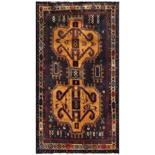 Handmade One-of-a-Kind Balouchi Wool Rug (Afghanistan) - 2'11 x 4'3