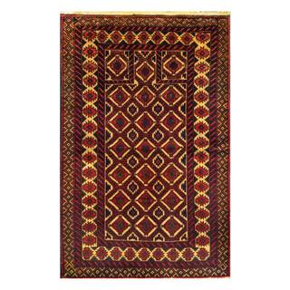 Herat Oriental Afghan Hand-knotted Tribal Balouchi Wool Rug (3' x 4'6)