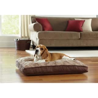 """Animal Planet 30"""" Memory Foam Rectangle Pet Bed Swirl Top https://ak1.ostkcdn.com/images/products/9252440/P16418008.jpg?impolicy=medium"""