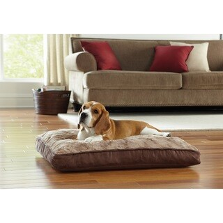 "Animal Planet 30"" Memory Foam Rectangle Pet Bed Swirl Top"