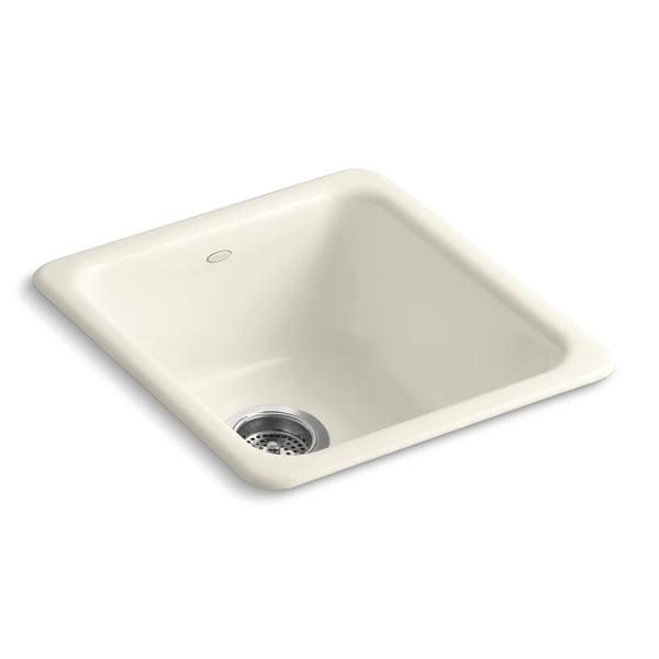 Kohler Biscuit White Cast Iron Undermount Kitchen Sink