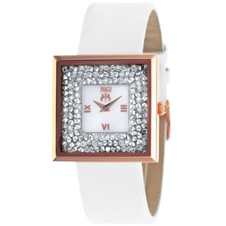 Jivago Women's Brilliance-S White Leather Watch