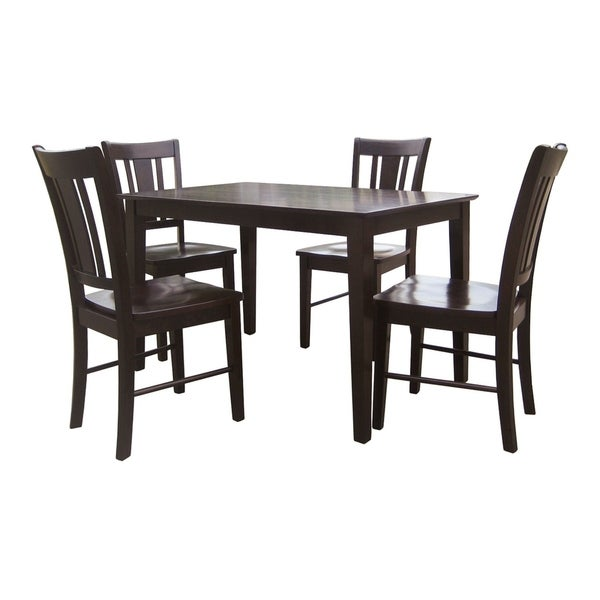 Dining Room Furniture Essentials: Shop Dining Essentials 5-piece Rich Mocha Table And Chair