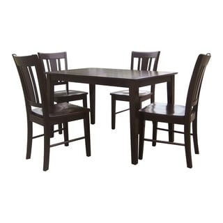 Dining Essentials 5-piece Rich Mocha Table and Chair Set