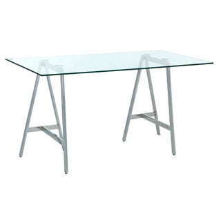 Sunpan Ackler Glass Writing Desk