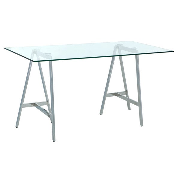 Sunpan Ackler Glass Writing Desk Free Shipping Today