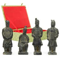 Handmade Set of 4 Terracotta Warrior Figurines (China)