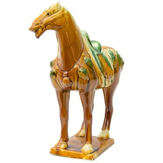 Handmade Medium Tang Horse Ceramic Statue (China)