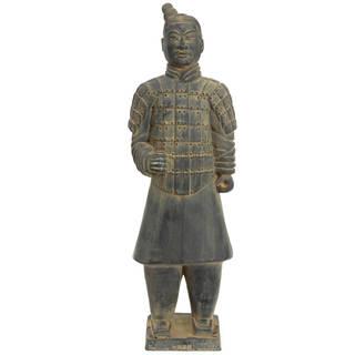 """Handmade 20"""" Xi'an Terracotta Warrior Statue"""