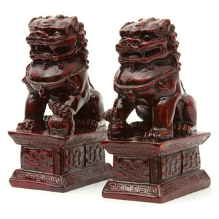 Set of 2 6-inch Fu Dog Statues (China)