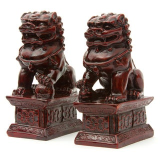 Handmade Set of 2 6-inch Fu Dog Statues (China)