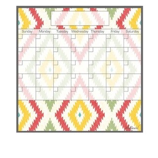 Aztec Magnetic Dry Erase Monthly Calendar