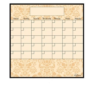 Wheat Magnetic Dry Erase Monthly Calendar