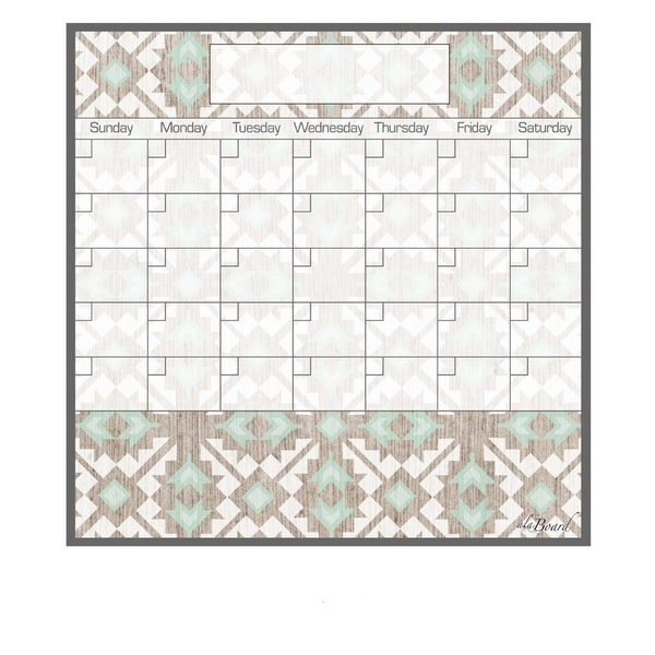 Tribal Magnetic Dry Erase Monthly Calendar