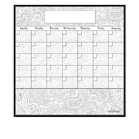 Paisley Magnetic Dry Erase Monthly Calendar