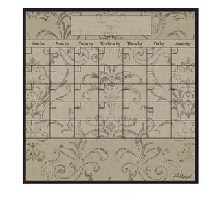 Mocha Magnetic Dry Erase Monthly Calendar