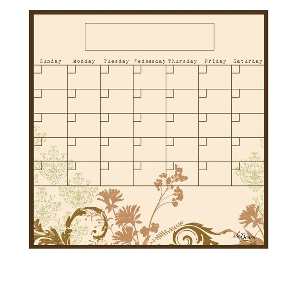 Floral Magnetic Dry Erase Monthly Calendar