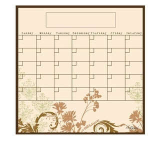 Floral Magnetic Dry Erase Monthly Calendar