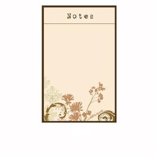 Floral Magnetic Dry Erase Message Board