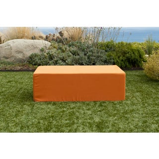Softblock Lowboy Orange Indoor/ Outdoor Ottoman