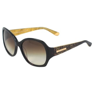Juicy Couture Women's JU 567/S 0086 Y6 Leopard Dark Havana Rectangle Sunglasses