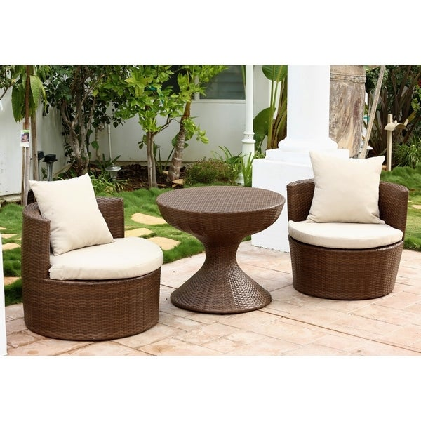 Wonderful Abbyson Palermo Outdoor Wicker 3 Piece Chair Set