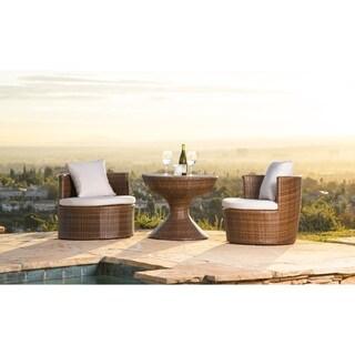 Abbyson Palermo Outdoor Wicker 3-Piece Chair Set