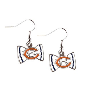 NFL Chicago Bears Bow Tie Earrings