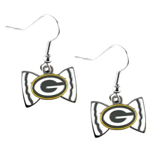 NFL Green Bay Packers Bow Tie Earrings