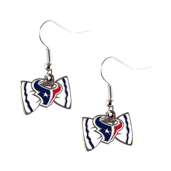 NFL Houston Texans Bow Tie Earrings