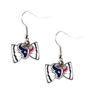 NFL Houston Texans Bow Tie Earrings