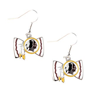 NFL Washington Redskins Bow Tie Earrings